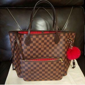 New LOUIS VUITTON Neverfull Handbag Purse GKiyq